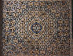 Feature wall, El Glaoui Kasbah (nisudapi) Tags: tile pattern mosaic symmetry morocco kasbah 2015 telouet elglaoui