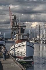 Essence of Olympia (Tom Blankenship Photography) Tags: marina photography washington photographer crane photographers olympia wa tugboat sailboats portofolympia tomblankenship