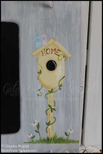 """Quadro de cozinha """"Sweet Birds Home"""""""