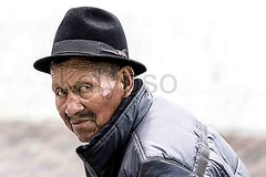 Old Indigenous Man (kalypsoworldphotography) Tags: santa street old city portrait people white man black heritage southamerica senior face look hat rural clothing ecuador sad skin grandmother outdoor mark traditional feather culture streetphotography human national elderly age latin elder andes editorial lonely sickness retired citizen impressive equator indigenous andean retiree diseases pensioner banosdeagua biologicalstage