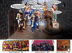 Spooky Kookys in a Dungeon (Zee-Mastor) Tags: monster dungeon brabo diorama prisoner torturechamber rubbermonster jiggler octobertoys skeletonwarriors spookykooky forgottenprisoner vintagetoystoys