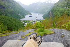 Relaxing Above Geiranger, Norway and the Disney Magic (Curtis Lannom) Tags: cruise norway europe magic disney dcl geiranger mreogromsdal