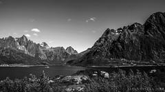 Lofoten islands perspectives (lunaryuna) Tags: bw panorama mountains monochrome norway landscape blackwhite fjord lunaryuna lofotenislands norwegiansea austfjorden lofotenwall