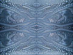 Elegant Blues Frosty Window Design (joyolsonnichols) Tags: blue winter abstract macro window glass beautiful beauty closeup glitter design amazing frost branch pattern natural crystal seasonal joy frosty freeze translucent fractal chilly pane shape magical decorate windowpane textured nichols embellish frosted jackfrost feathery olson tracery crystalline beautify frostwork manipulatedphotograph fractality joynichols joynicholsartworkandphotography joynicholsartistwebsitescom fantasticcool elegantbluesfrostywindowdesign