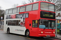 National Express West Midlands Dennis Trident 2/Alexander ALX400 4330 (BX02 AUA) (Walsall) (john-s-91) Tags: 4330 bloxwich alexanderalx400 dennistrident2 nationalexpresswestmidlands bx02aua triple9 walsallroute89