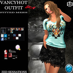 Vancyhot FMoutfit (Zed Sensations) Tags: eve urban leather fashion rock shirt project outfit clothing day slim mesh top country mini skirt wear lara short casual sensations isis freya belleza zed apparel physique hourglass tmp saia camisa sleeved maitreya slink pulpy ebody fitmesh evemesh