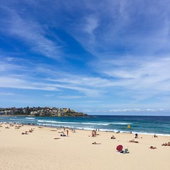 Beach Scene (24thcentury) Tags: ocean beach clouds sydney australia bondibeach