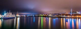 Hafen von Sassnitz bei Nacht