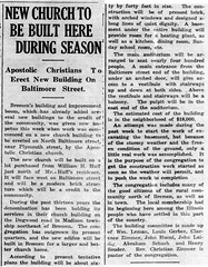1924 - Apostolic Christian Church built - Enquirer - 27 Mar 1924
