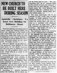 1924 - Apostolic Christian Church built - Enquirer - 27 Mar 1924