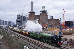 Battersea Power Station (McTumshie) Tags: england london train unitedkingdom transport railway steam tornado battersea steamtrain batterseapowerstation steamlocomotive londonist 60163 belmondbritishpullman 6february2016