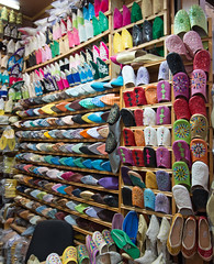 A pair of slippers anyone? (David Russell UK) Tags: color colour shop market sale stall morocco fez medina slipper slippers fes