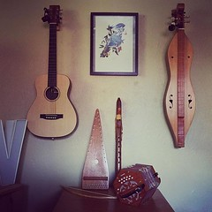 The makings of a Native American-Irish-Appalachian... (iam_nessa) Tags: martinguitar concertina flutes zithers uploaded:by=flickstagram instagram:photo=109070783648693374731180630