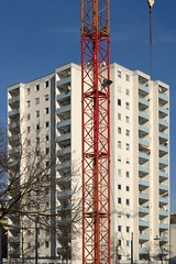 Appartment Block (n95lover) Tags: baustelle kran a7 towerblock hochhaus offenbach of berlinerstrase