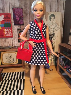 Curvy Barbie Wearing Her New Dress