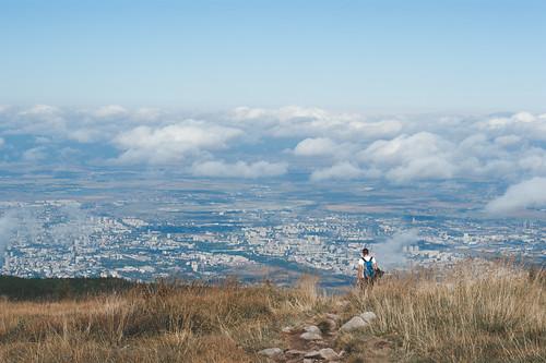 Sofia vom Vitosha-Gebirge aus