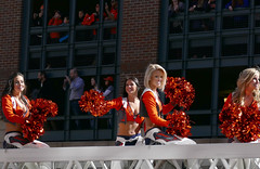 Cheerleaders in the Victory Parade (Colorado Sands) Tags: ladies people woman usa beautiful smiling female america happy us football women colorado pretty cheerleaders unitedstates katie nfl denver parade celebration babes angela kendall afc americanfootball 2016 denverbroncos victoryparade professionalfootball prosports superbowlchampions profootball americansports sandraleidholdt superbowl50