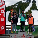 Red Mountain Fidelity BC Cup GS - Overall Podium March 3 - left to right: Meg Cumming, Hannah Bodily, Kristina Natalenko PHOTO CREDIT: Martin Tichy
