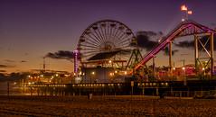 Santa Monica sunset (urbanexpl0rer) Tags: california longexposure sunset sky beach losangeles santamonica santamonicapier greatphotographers skycolorful