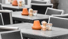 80/366 Table Decoration - 366 Project 2 - 2016 (dorsetpeach) Tags: england texture table chair terracotta pot dorset flowerpot 365 weymouth patter 2016 366 aphotoadayforayear 366project second365project