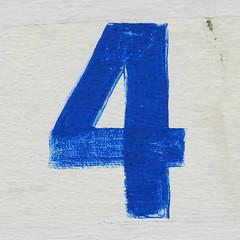 number 4 (Leo Reynolds) Tags: xleol30x 4 four onedigit number xsquarex panasonic lumix fz1000 grouponedigit xx2016xx