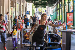 Concentrate in the Street - Melbourne, Australia (wentoutjuo) Tags: street portrait coffee work market sony melbourne victoria 55mm fe f18 concentrate  a7r