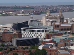 View from Liverpool Cathedral (Steve Hobson) Tags: liverpool river cathedral mersey merseyside