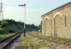 Bitton station (8), 1978 (Blue-pelican-railway) Tags: film station bristol closed railway gloucestershire bitton beeching