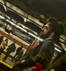Chasid 5 (deepchi1) Tags: street city nyc newyorkcity people urban usa newyork hat subway streetlife manhatten streetpeople chasid hasidim peyos
