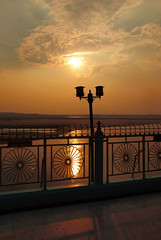 Evening overlooking The Irrawaddy (Explore #169 25/3/16) (GillWilson) Tags: myanmar magwe irrawaddyriver