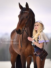 Spellthief Lux & Harley 2 (Hestefotograf.com) Tags: show friends summer horse white black girl norway bareback jump mare dress lets cosplay lol hannah go run riding pony barefoot pokemon welsh cosplayer arabian elegant cob bestfriend rider equestrian canter equine equus equipage skien cosplaygirl spellthief leagueoflegends
