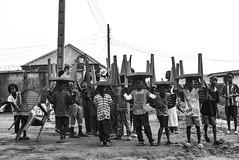 CHILDREN CARRY THEIR CHAIRS. Ikorodu North, 2015. (cadi.cliff) Tags: africa street travel blackandwhite bw west children state rally streetphotography photojournalism lagos nigeria activism socialchange ikorodu youthdrivenchange