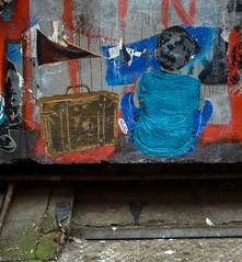 HH-Wheatpaste 2715 (cmdpirx) Tags: street urban color colour pasteup art public wall cutout painting poster fun graffiti stencil nikon paint artist 7100 d space raum wand kunst strasse wheatpaste paste glue hamburg humor cement can spray crew hh piece aerosol kleber wheatepaste schablone kleister öffentlicher kuenstler