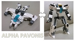 Legoformer Alpha Pavonis (31006 + 31034 Combiner) (LDD Building Instructions) by  Bacem (Repubrick.com) Tags: robot lego transformers scifi creator mecha mech ldd combiner buildinginstructions alternatebuild legoformer repubrickcom