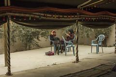Bedouin women in the front yard of a weaving association in Lakiya (duoyen) Tags: israel negev weaving bedouin naqab lakiya