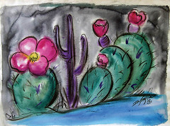 Its a gorgeous day in the Old Pueblo! (DeGrazia Gallery in the Sun) Tags: flowers arizona cactus ted southwest architecture spring artist gallery desert artgallery tucson az adobe blooms degrazia catalinas ettore nationalhistoricdistrict oldpueblo galleryinthesun