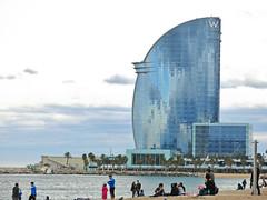 W Barcelona Hotel (elianek) Tags: ocean barcelona praia beach mar spain espanha europa europe bcn barceloneta catalunya litoral oceano wbarcelona