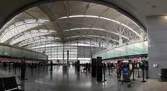 San Francisco Airport Interior (sjrankin) Tags: sanfrancisco california panorama northerncalifornia edited sanfranciscoairport 11april2016
