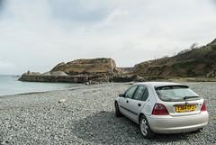 Herbert (FatHarris_) Tags: sea beach car sunshine easter nikon automobile cornwall rover pebbles coastal bubble motor cornish kernow mgrover sinshine nikond200 rover200 autoshite rover220 fatharris