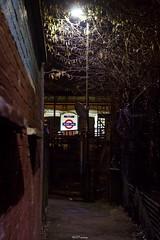Burnt Oak Station through the alley (LFaurePhotos) Tags: life street england urban london station night lights alley explore deserted afterdark northernline northwestlondon burntoak londonboroughofbarnet