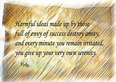 Harmful ideas (Nelley) Tags: words text serenity papyrus ideas success amity quotation harmful