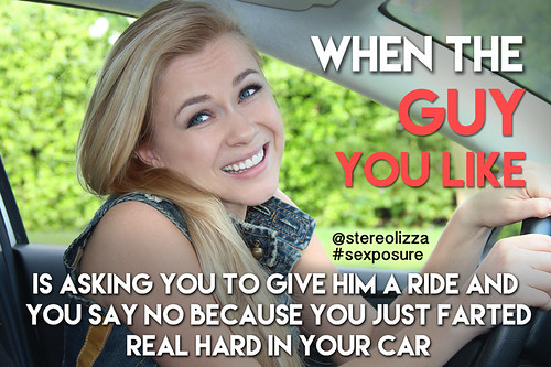 Farting in your car - Stereolizza Sexposure Meme