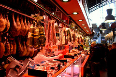 Mercat de Sant Josep de la Boqueria, Barcelona (bigz213) Tags: barcelona de la market chorizo sant boqueria salami mercat josep