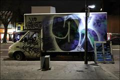 Sony (Alex Ellison) Tags: urban white night graffiti boobs painted sony lorry 29 van graff whitechapel eastlondon boxtruck 29ers