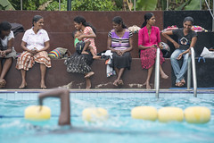 The forgotten swimmer (Photosightfaces) Tags: ladies pool lady swimming swim arm best sri lanka selected swimmer poolside onearm lankan