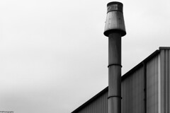 smokestack (fhenkemeyer) Tags: urban bw abstract smokestack minimalist oberhausen
