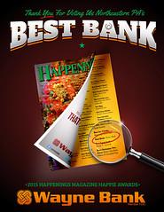 Happenings Best Bank Creative (Justin Roach Work Stuff) Tags: advertising design graphicdesign bank batman scranton happenings nepa brucewayne honesdale 570 waynebank
