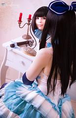 Miyuki Shiba (The Irregular at Magic High School / Mahouka Koukou No Rettousei) (Calssara) Tags: blue anime cute stockings smile ruffles happy dress boots cosplay blueeyes manga lolita idol microphone miyuki shiba blackhair kawai lightnovel paleskin hairbow sweetlolita cosplaygirl cosplayphoto theirregularatmagichighschool mahoukakoukounorettousei miyukishiba shibamiyuki mahkakknorettsei idoldress idoloutfit