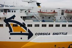 Corsica Shuttle (demeeschter) Tags: sea italy como boat harbour corsica ferries vado ligure savona