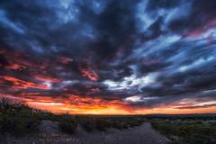 Sunrise (inlightful) Tags: morning sunset sky sun sunshine clouds sunrise evening dirtroad